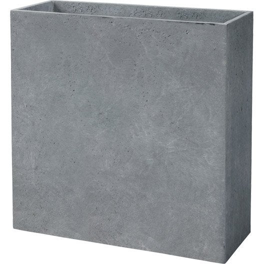 muret fibre deroma x x cm gris leroy merlin. Black Bedroom Furniture Sets. Home Design Ideas