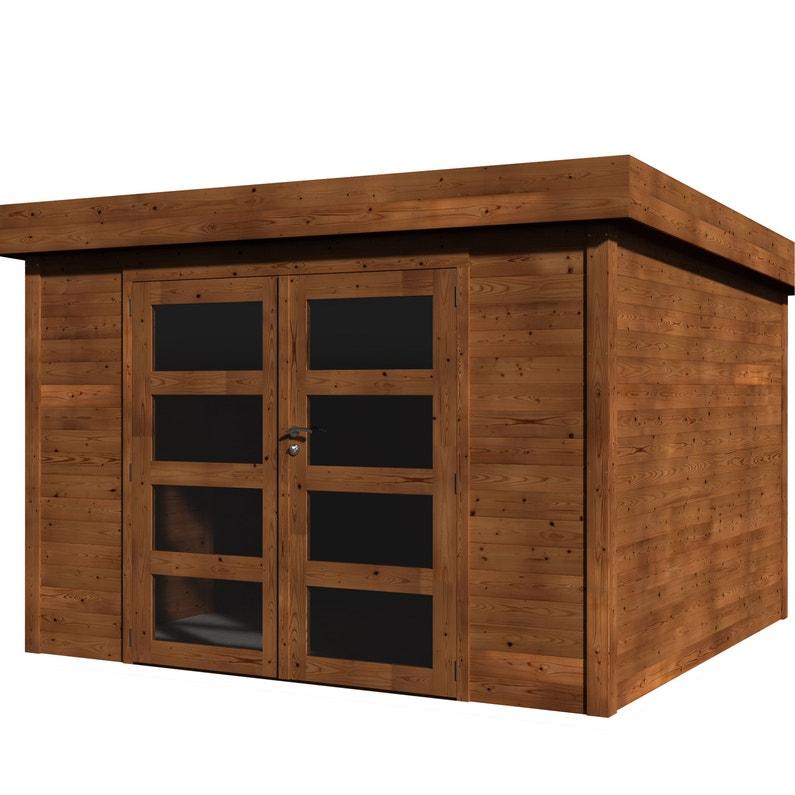 Abri de jardin bois NATERIAL Kuma évolution + traité autoclave Ep.28 mm,  8.65 m²