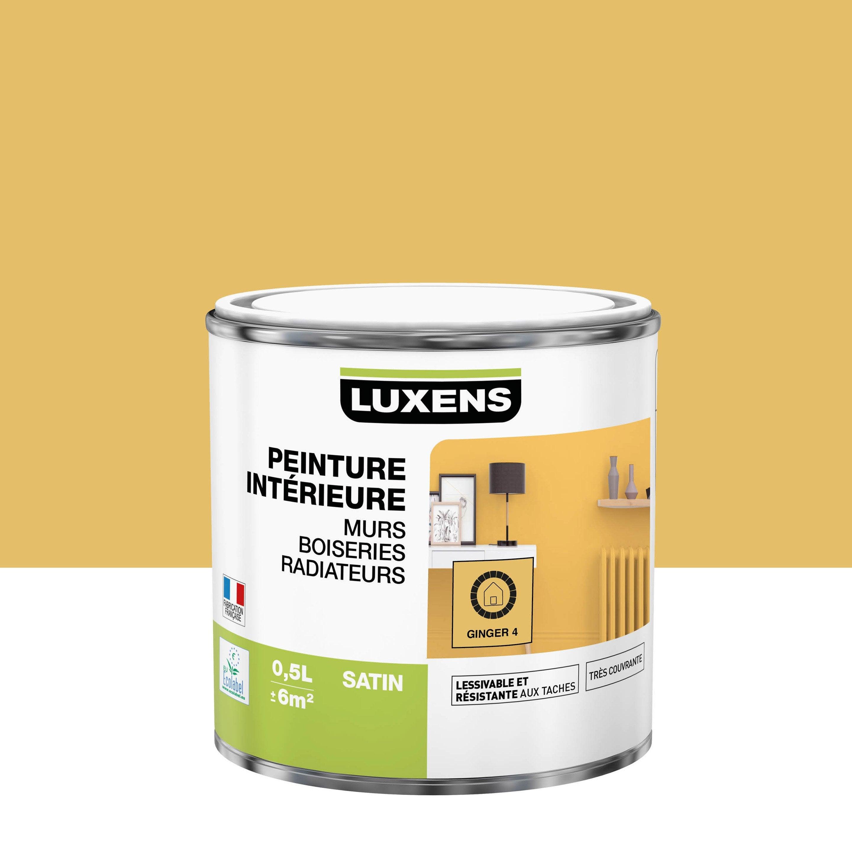 Peinture, mur, boiserie, radiateur, Multisupports LUXENS, ginger 4, satin, 0.5 l