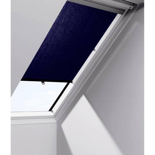 store fen tre de toit rideau bleu velux rhl sk00 leroy merlin. Black Bedroom Furniture Sets. Home Design Ideas