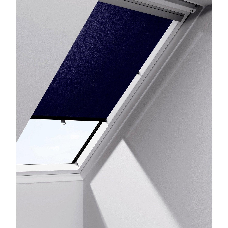 Store fenêtre de toit rideau bleu VELUX Rhl sk00 | Leroy Merlin