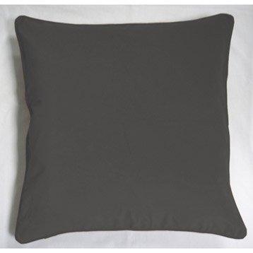 Coussin Velours gris, 60 x 60 cm