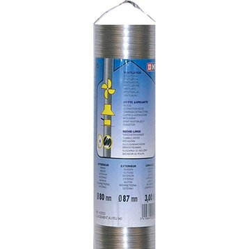 Flexible de ventilation air frais DMO - Diam.80 mm, L.3 m