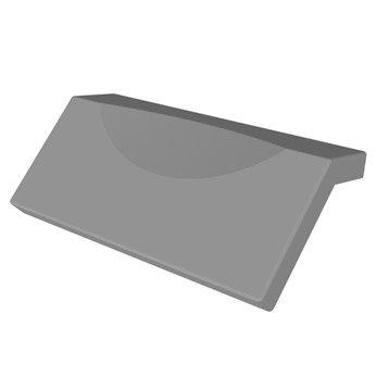 Repose-tête L.31x l.11.5 cm gris, SENSEA Premium design