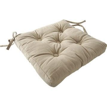 Galette de chaise coussin plaid et pouf leroy merlin for Galette de chaise 50x50