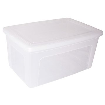 Boîte Modular clear box plastique , l.39.5 x P.59.5 x H.29 cm