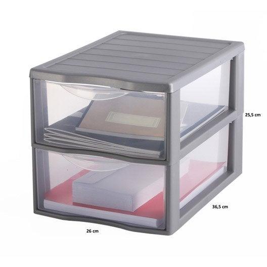 Tour de rangement orgamix en plastique l 36 5 x p 25 5 - Tour de rangement plastique gifi ...