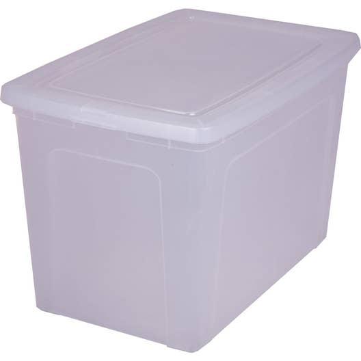 Boîte Modular clear box plastique , l.39.5 x P.59.5 x H.37.8 cm ...