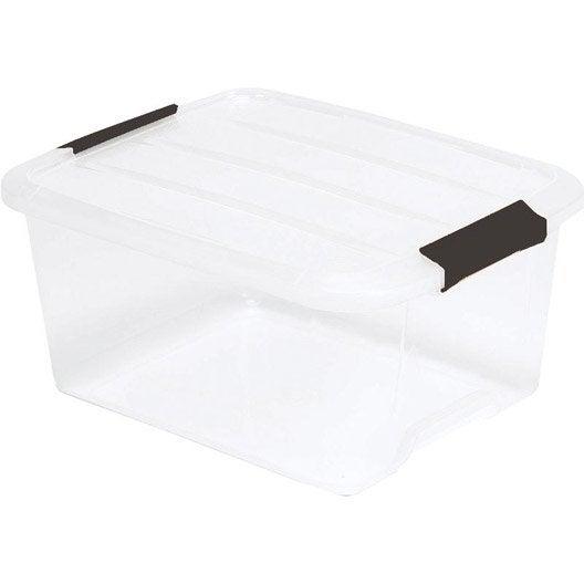 bo te de rangement top box en plastique l 29 x p 39 x h. Black Bedroom Furniture Sets. Home Design Ideas