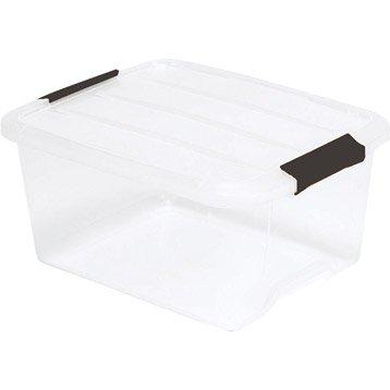 Boîte Top box plastique , l.29 x P.39 x H.18.6 cm
