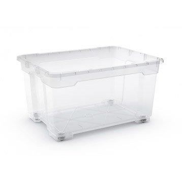 Boîte R-box plastique , l.77.5 x P.58 x H.43.5 cm