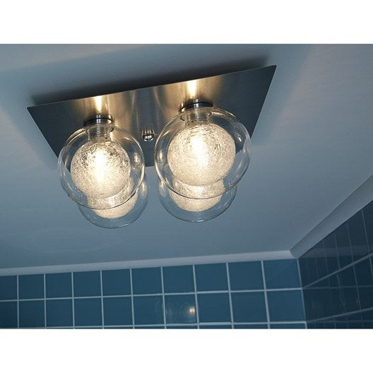 Plafonnier venus halog ne 4 x 28 w g9 leroy merlin for Plafonnier pour salle de bain leroy merlin
