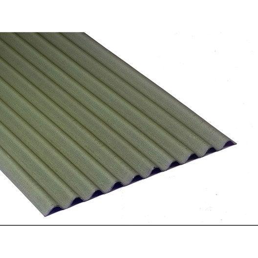 Plaque ondul e bitum e vert x 2m onduline leroy merlin - Tole ondulee bitumee noir rouge vert ...
