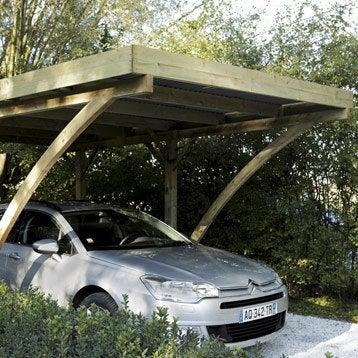 Carport en bois MILANO, 16.32 m²