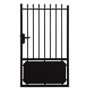Portillon bois alu fer portail portillon et for Portillon lapeyre
