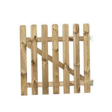 Portillon battant en bois merens x cm for Portail bois jardin