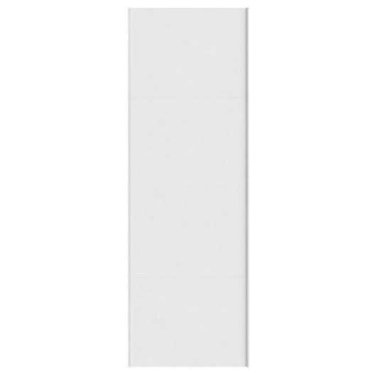 Portes coulissantes spaceo home 240 x 80 x 1 6 cm blanc for Porte coulissante 240 cm hauteur