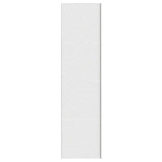 Portes coulissantes spaceo home 240 x 60 x 1 6 cm blanc leroy merlin - Porte coulissante 240 ...