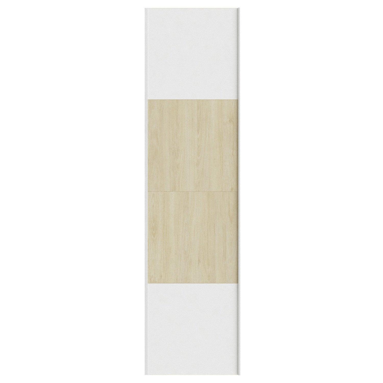 Portes coulissantes spaceo home 240 x 60 x 1 6 cm blanc for Porte coulissante hauteur 60