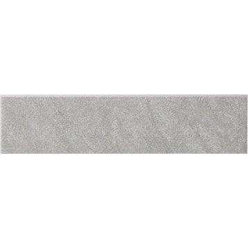 Lot de 4 plinthes Bellac gris zingué n°5, l.7.5 x L.30 cm