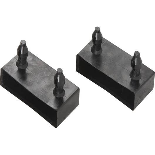 Lots de 2 embouts PVC x 8mm, L. 8 cm | Leroy Merlin