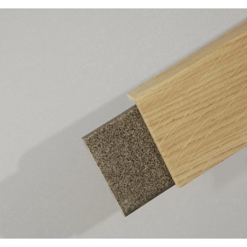 Surplinthe de rénovation placage chêne sans noeud, 20 x 92 mm, L.2.2 ... ff8115ccd7bb