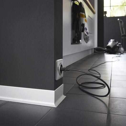 plinthe aluminium 15 x 60 mm l 2 5 m leroy merlin. Black Bedroom Furniture Sets. Home Design Ideas