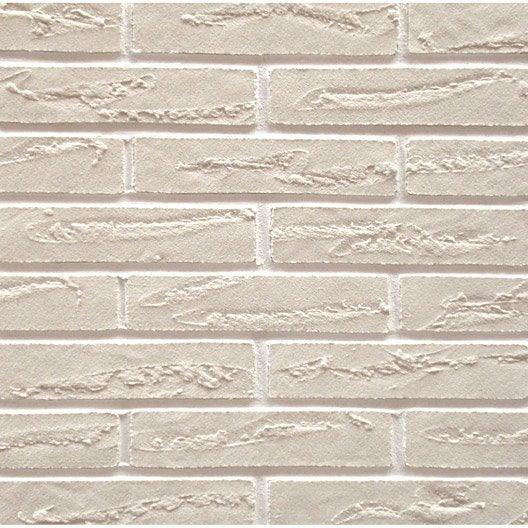 Plaquette de parement pierre naturelle blanc elastolith leroy merlin - Leroy merlin plaquette de parement ...