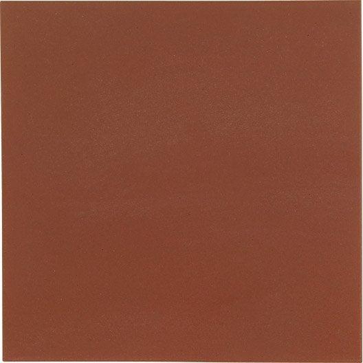 Carrelage sol et mur rouge effet uni Archi l.15 x L.15 cm