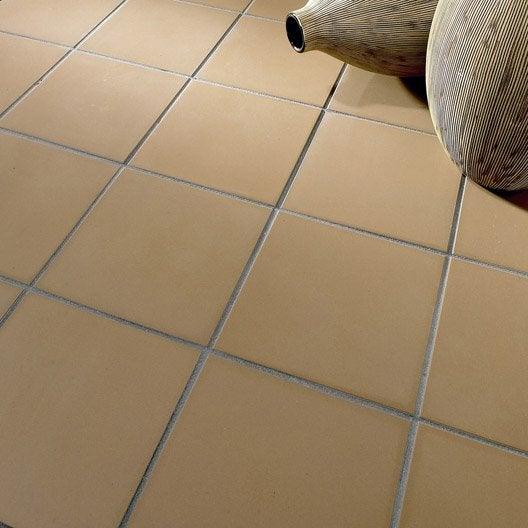 Carrelage sol et mur caf effet uni archi x cm - Stylo joint carrelage gris ...