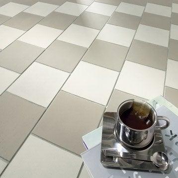 Carrelage sol et mur gris pâle effet uni Archi l.15 x L.15 cm