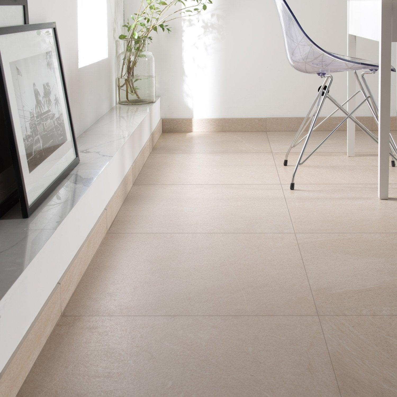 Carrelage sol et mur beige effet pierre Milano l.60 x L.60 cm ...