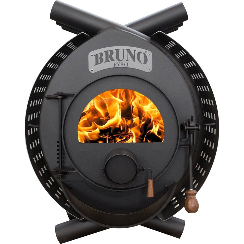 Poêle à Bois Bruno Type Arcade Pyro 13 Kw Leroy Merlin