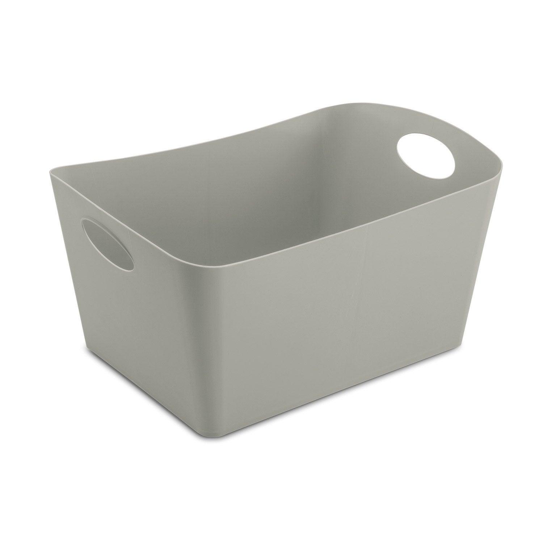 bo te de rangement nomade en plastique gris gris n 1. Black Bedroom Furniture Sets. Home Design Ideas