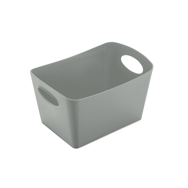 Boîte de rangement nomade en plastique gris-gris n°1, Boxxx | Leroy Merlin