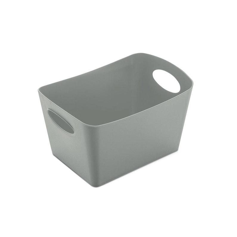 Boîte de rangement nomade en plastique gris-gris n°1, Boxxx   Leroy Merlin