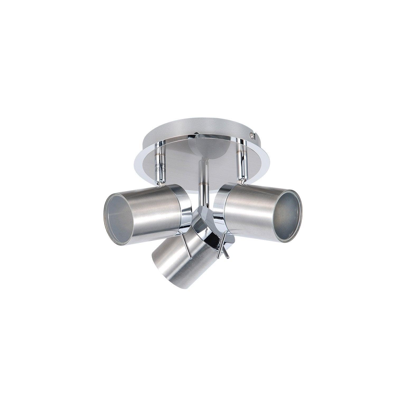 Plafonnier 3 spots mizil sans ampoule 0 gu10 eclairage pour plafond - Changer ampoule plafonnier salle de bain ...