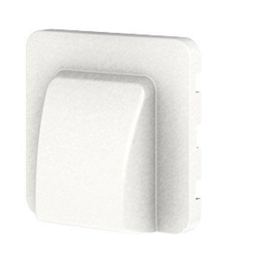 cache sortie de c ble cosy lexman blanc blanc n 0 leroy merlin. Black Bedroom Furniture Sets. Home Design Ideas