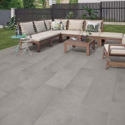 carrelage sol gris effet pierre sicile x cm. Black Bedroom Furniture Sets. Home Design Ideas