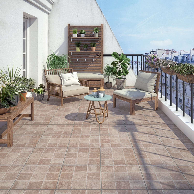 Recouvrir Sa Terrasse Avec Un Carrelage Brique | Leroy Merlin
