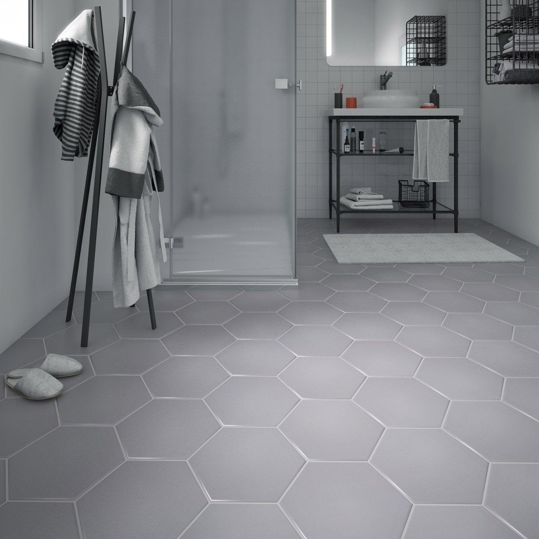 carrelage sol et mur forte b ton gris clair hexo x. Black Bedroom Furniture Sets. Home Design Ideas