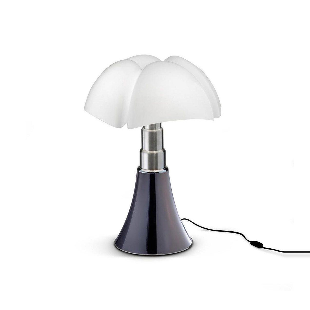 Lampe design Mini Pipistrello gris, ampoule LED integrée, H.35cm
