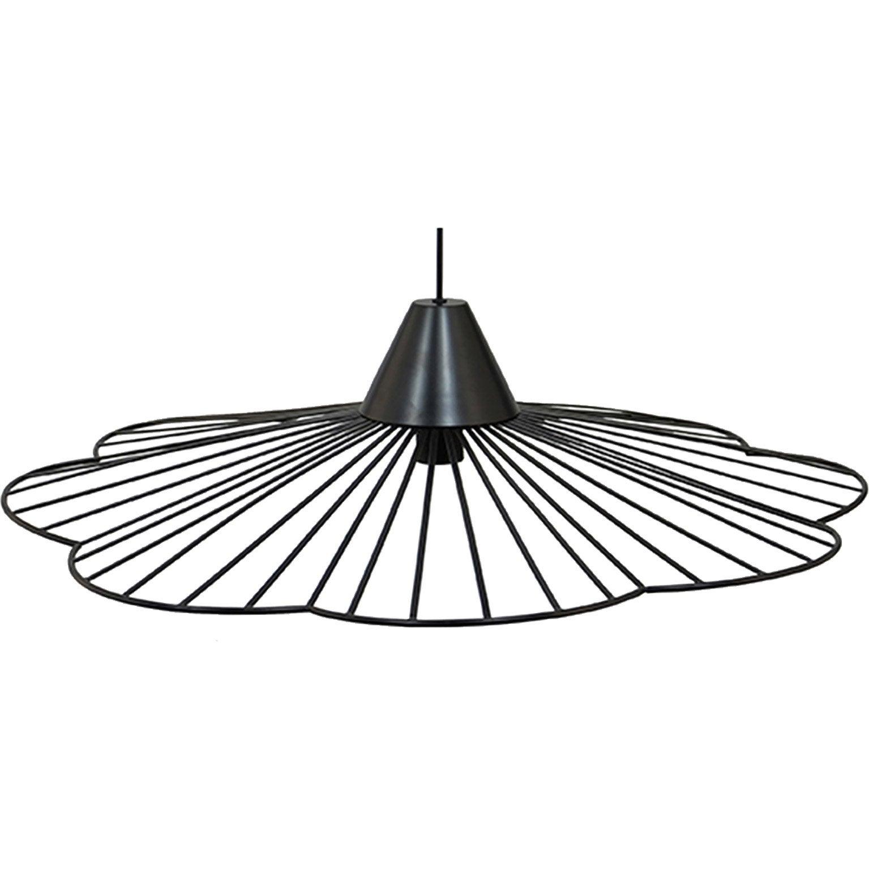 Suspension, design métal noir BOUDET KANANGA 1 lumière(s) D.70 cm
