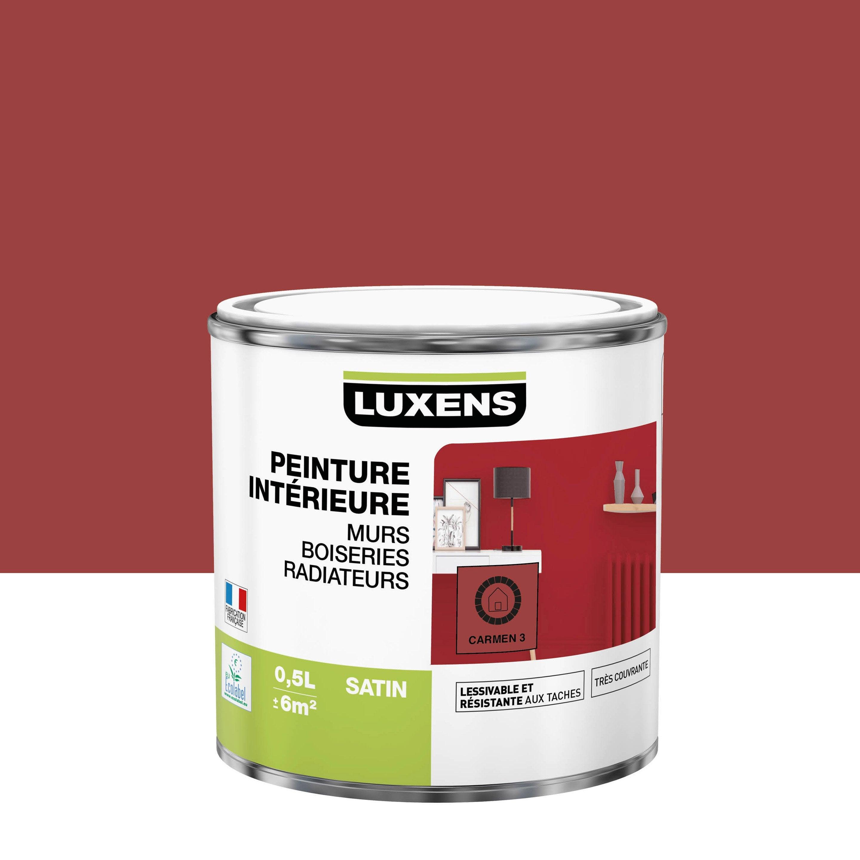Peinture, mur, boiserie, radiateur, Multisupports LUXENS, carmen 3, satin, 0.5 l