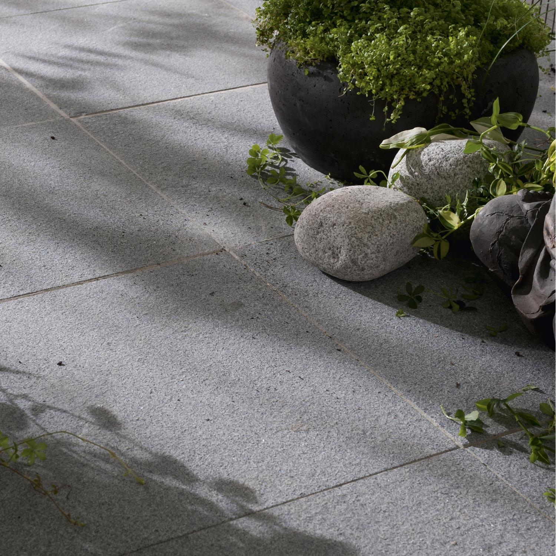 Dalle En Granit Pepperino, Gris Nuancé L.50 X L.50 Cm Ep