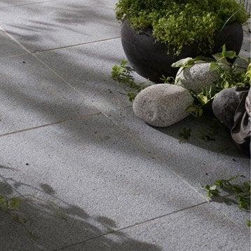 Dalle Pepperino granit, gris nuancé, Ep.20 mm x L.50 x l.50 cm