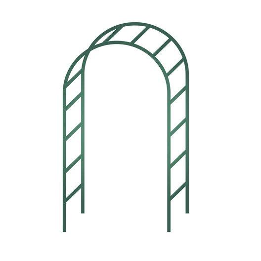 pergola double arceau egt garden l 140 x h 240 x p 40 cm leroy merlin. Black Bedroom Furniture Sets. Home Design Ideas