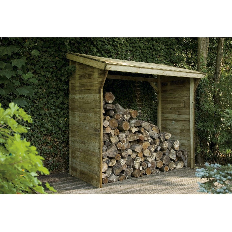 abri de jardin avec bucher leroy merlin Bûcher bois Memphis naturel, l.221 x H.203 x P.114.5 ...