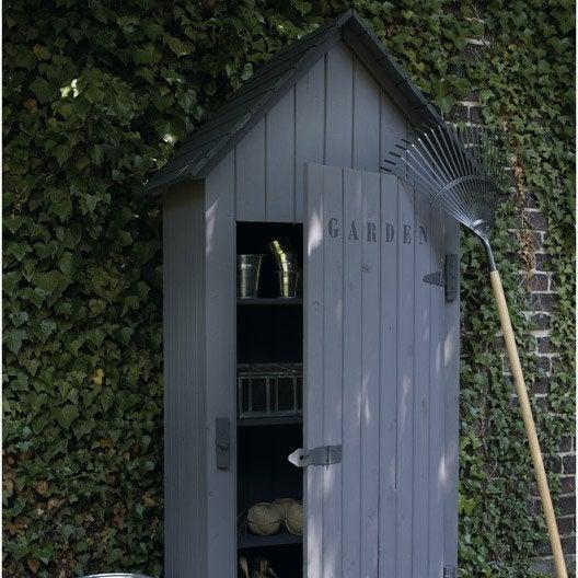 Armoire de jardin bois wissant naturelle x x p for Armoire de jardin leroy merlin