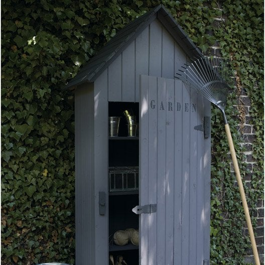 Armoire de jardin bois wissant naturelle x x p for Cabanon jardin leroy merlin